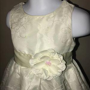 infant girl ivory party dress